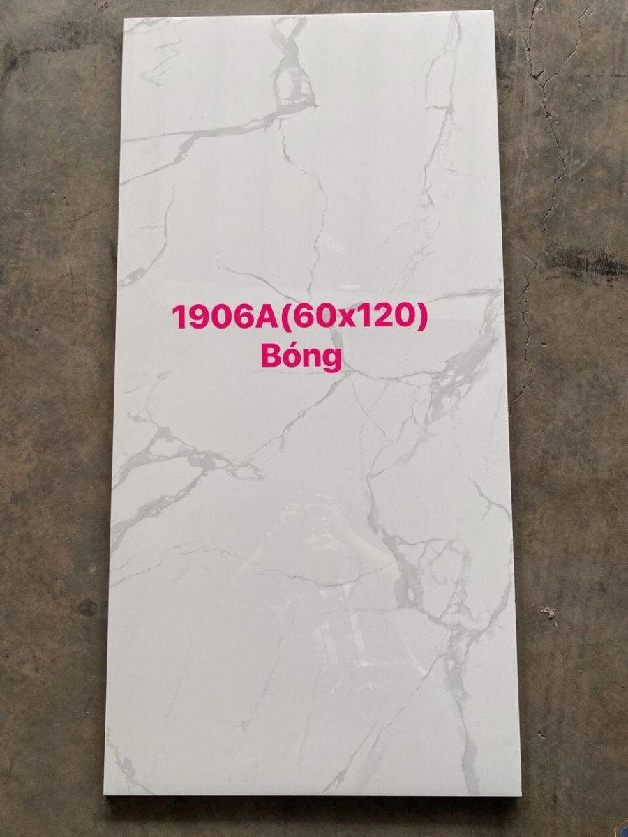 Gạch cao cấp 60x120 giá rẻ - Gạch trắng vân mây 60x120 giá rẻ