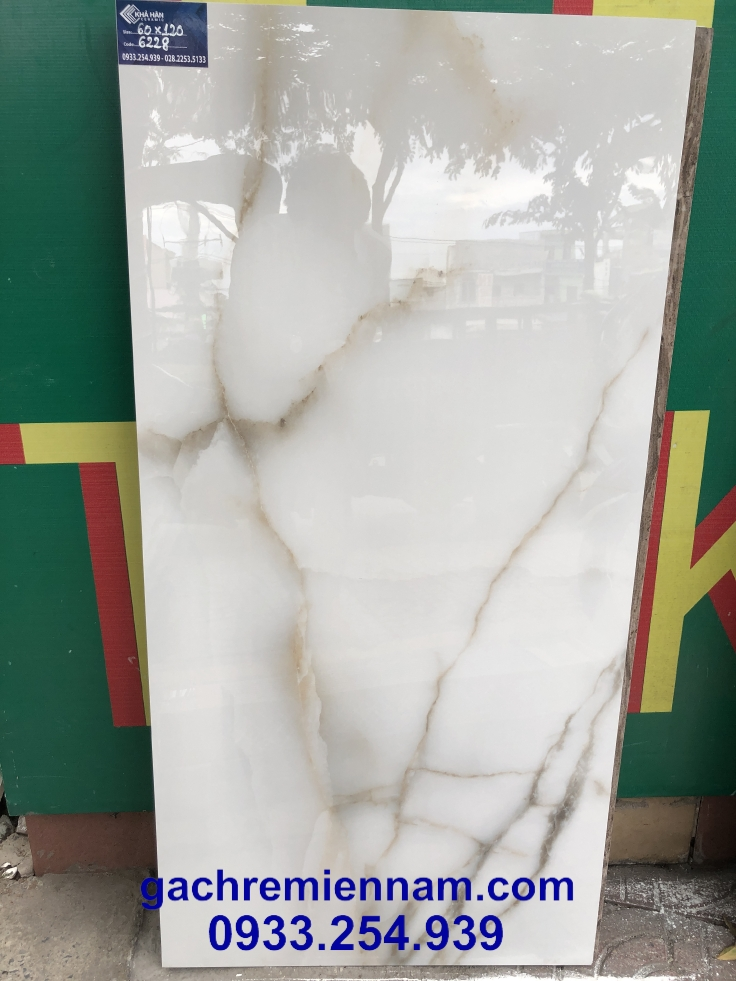 GẠCH ẤN ĐỘ 60X120 6228 HEXA WHITE
