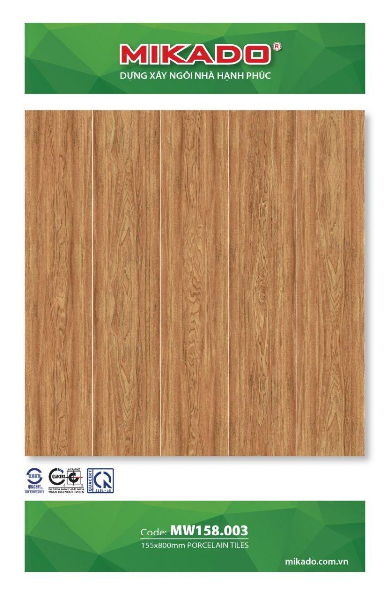 Gạch 15x80 mikado 158003, Gạch giả gỗ mikado 15x80 158003, gạch giả gỗ mikado, gạch lát nền vân gỗ mikado 15x80 158003