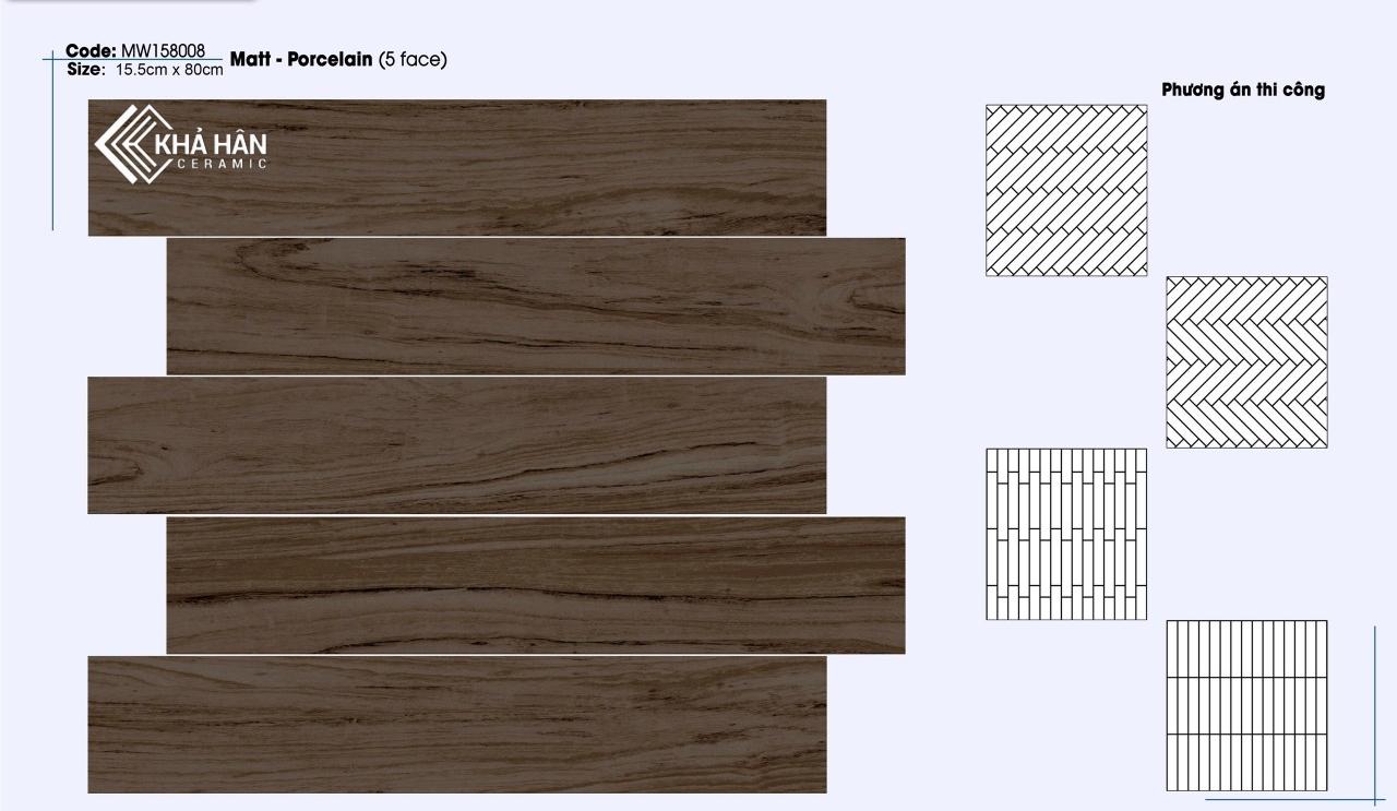 Gạch giả gỗ 15x80 mikado 158008, Gạch giả gỗ mikado 15x80 158008, gạch giả gỗ mikado, gạch lát nền vân gỗ mikado 15x80 158008